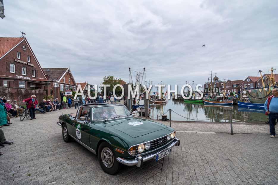 Automythos | 11. Hamburg Berlin Klassik 2018 | 126 | Heiko Baumfalk & Dr. Johann Strandborg | Triumph Stag