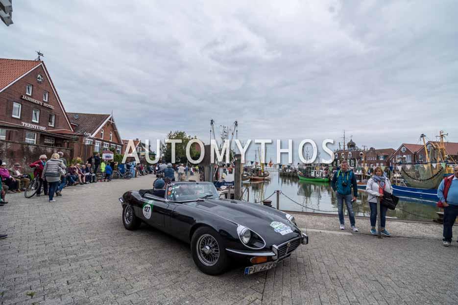 Automythos | 11. Hamburg Berlin Klassik 2018 | 127 | Kai Eckert & Kirsten Harnisch-Eckert | Jaguar E-Type Roadster Series 3