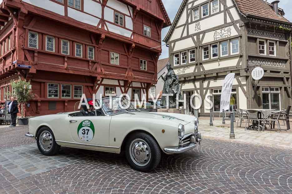 Automythos | 7. Bodensee Klassik 2018 | 37 | Laurent Burkart & Tabea Rohrer | Alfa Romeo Giulietta Spider