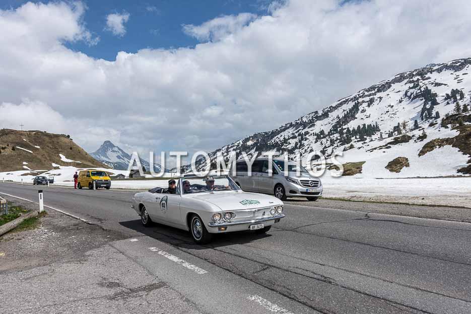 Automythos | 7. Bodensee Klassik 2018 | 62 | Albert Oberholzer & Kathrin Oberholzer-Exer | Chevrolet Corvair Monza Convertible