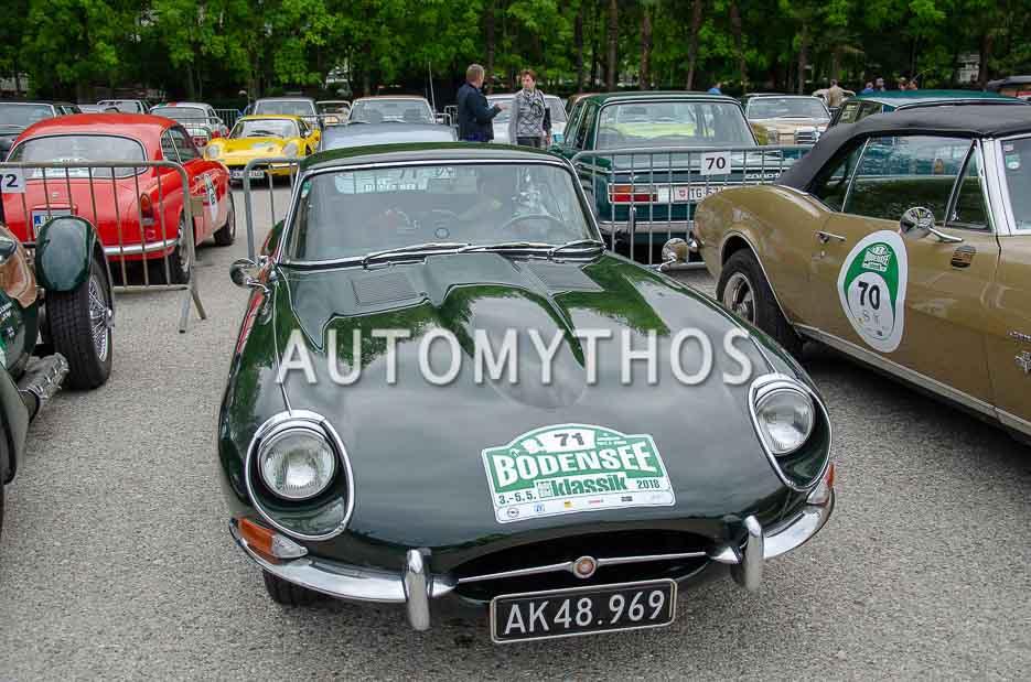 Automythos | 7. Bodensee Klassik 2018 | 71 | Carsten Bo Petersen & Hanne Enggaard Thuesen | Jaguar E-Type Series 1
