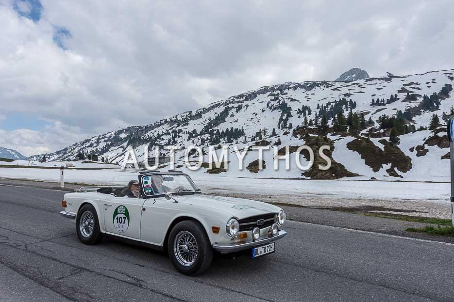Automythos   7. Bodensee Klassik 2018   107   Johannes Bitzer & Ursula Bitzer   Triumph TR6