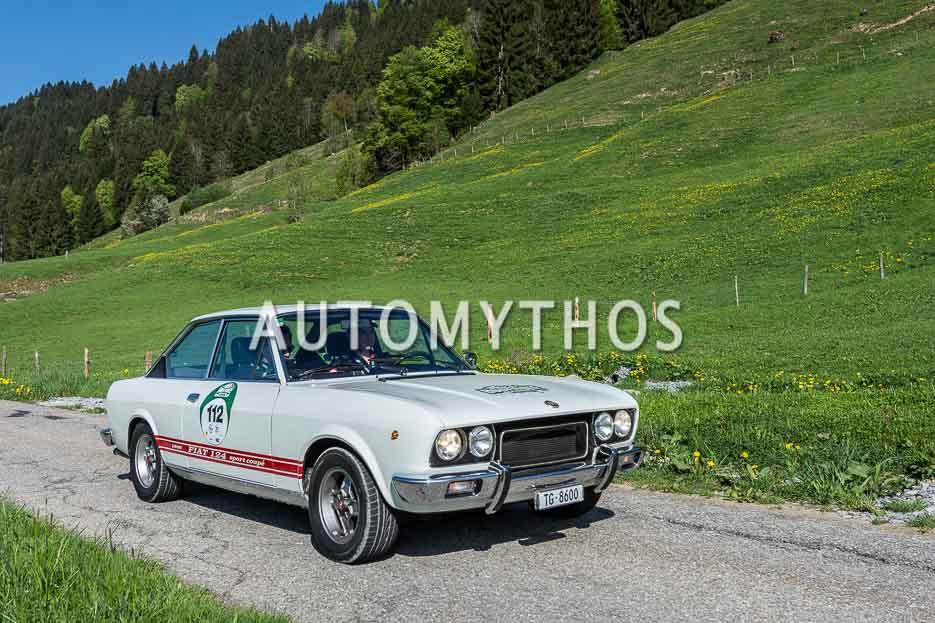 Automythos | 7. Bodensee Klassik 2018 | 112 | Guido Scherrer & Timmo Scherrer | Fiat 124 Sport Coupé