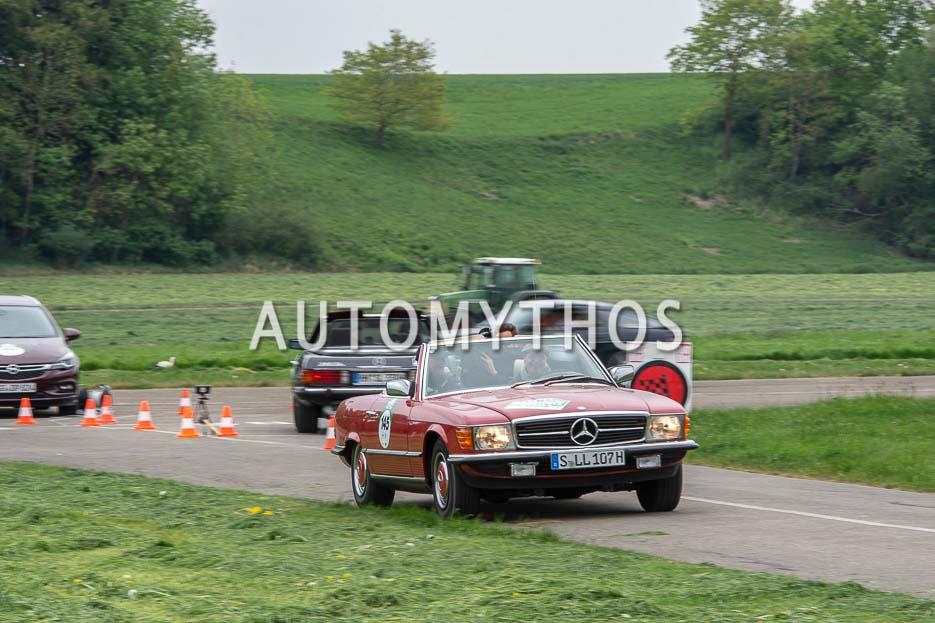 Automythos | 7. Bodensee Klassik 2018 | 145 | Heinz Gottwick & Dr. Albert Kirchmann | Mercedes-Benz 500 SL