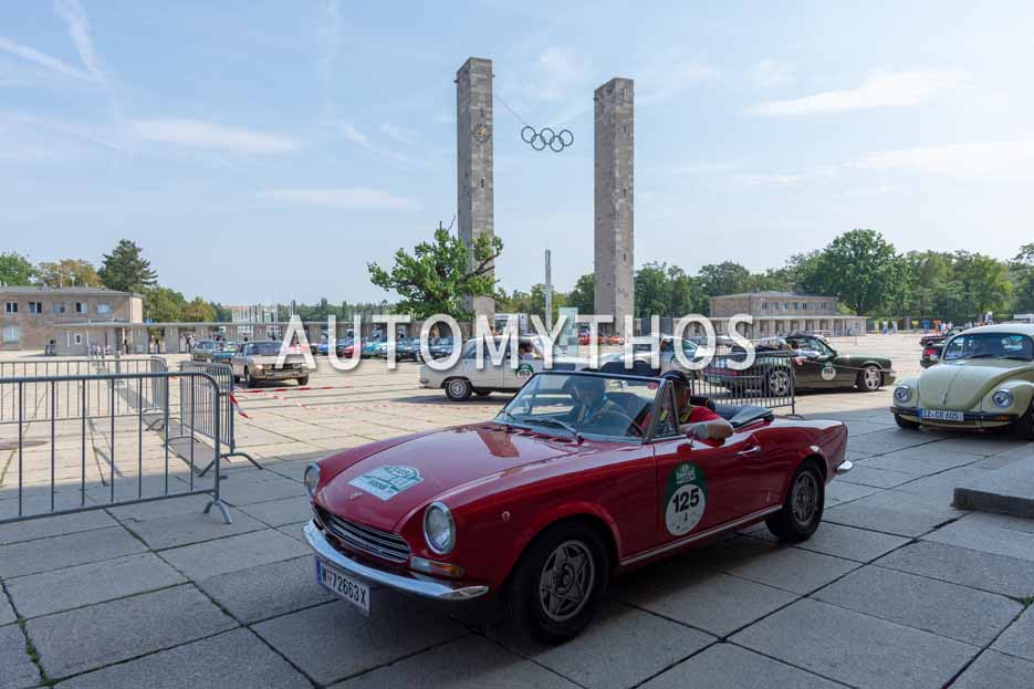 Automythos | 12. Hamburg Berlin Klassik 2019 | 125 | Willhelm Matzke & Thomas Stockmayer | Fiat 124 Sport Spider